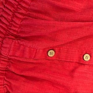 Urban Outfitters Pants & Jumpsuits - RARE Sparkle and Fade linen red romper